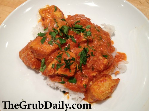 Butter Chicken Plated