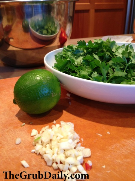 Cilantro Lime Ingredients