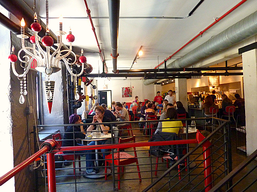 Inside Cafe Lift