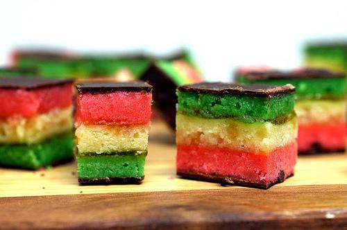 Italian Seven Layer Cookies } | TheGrubDaily