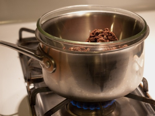 Chocolate in a double boiler