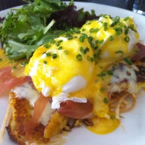 Cachapa Eggs Benedict